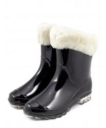 Резиновые сапоги на овчине Rubber Boots Black