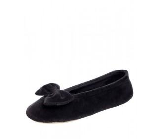 Тапочки-балеринки женские черные
