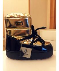 Сапоги женские Jog Dog BB005R Золотой зеркало