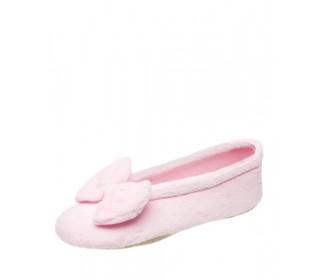 Тапочки-балеринки розовые