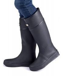 Высокие резиновые сапоги MoovBoot Geo Black Knee High