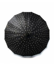 Зонт женский трость в горошек Jane Polka Dot MOOVBRELLA Black