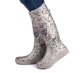 Высокие резиновые сапоги MoovBoot Snow Leopard Grey