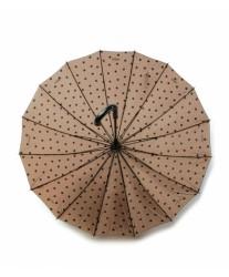 Зонт женский трость в горошек Jane Polka Dot MOOVBRELLA Taupe