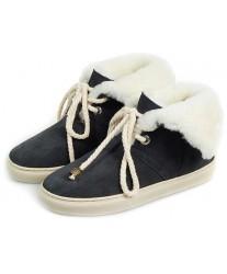 Ботинки из овчины Shepherd's Life Navy черные
