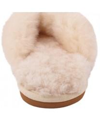 Домашние меховые тапочки Slippy Cream