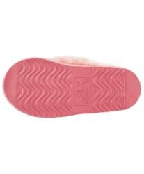 Домашние меховые тапочки Slippy Pink