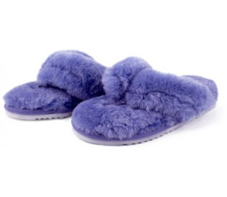 Домашние меховые тапочки Slippy Purple