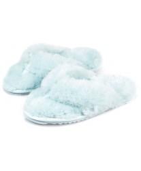 Тапочки из овчины Slippy небесно-голубые
