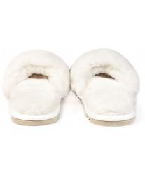 Тапочки из овчины Bella белые