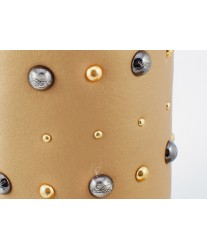 Сапоги из овчины на застежке Shepherd's Life Zipper Gold Metallic
